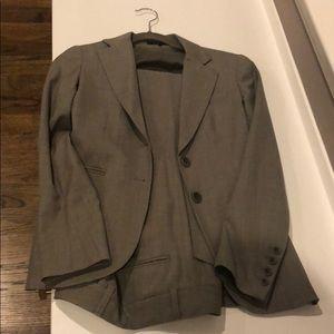 Theory grayish beige pant suit